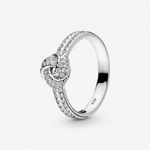 Pandora Shimmering Knot Ring Silver