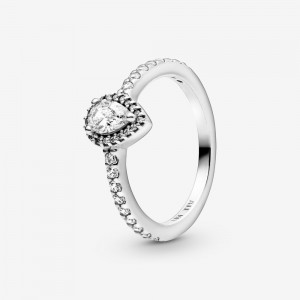 Pandora Classic Teardrop Halo Ring