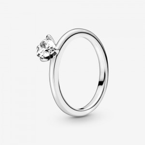 Pandora Clear Heart Solitaire Ring