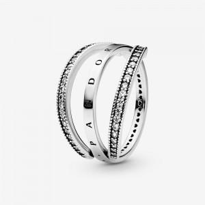 Pandora Pandora Logo and Hearts Ring