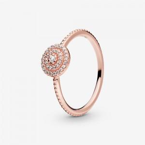 Pandora Elegant Sparkle Ring Rose Gold