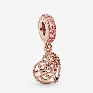 Pandora Tree of Love Dangle Charm Rose Gold
