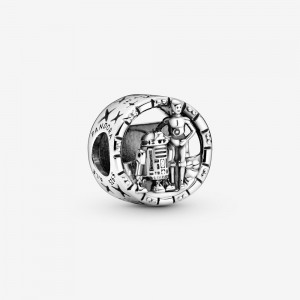 Pandora Star Wars C-3PO and R2-D2 Openwork Charm