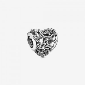 Pandora Openwork Heart and Beaded Stars Charm