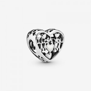 Pandora I Love You Mom Heart Charm