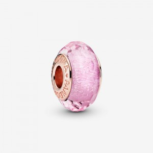 Pandora Faceted Pink Murano Glass Charm