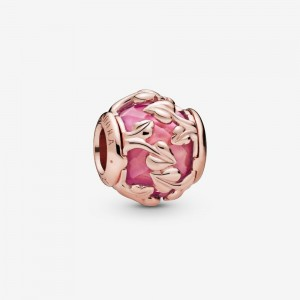 Pandora Pink Decorative Leaves Charm