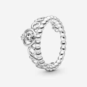 Pandora Princess Tiara Crown Ring Silver
