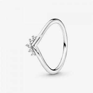 Pandora Tiara Wishbone Ring Silver