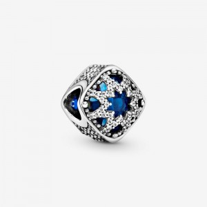 Pandora Square Blue Star Charm
