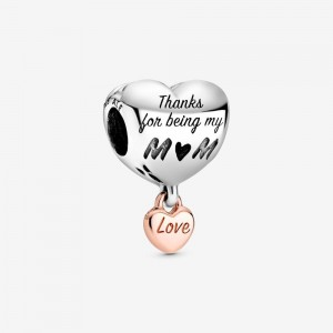 Pandora Love You Mom Heart Charm