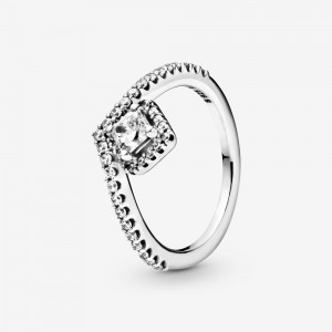 Pandora Square Sparkle Wishbone Ring