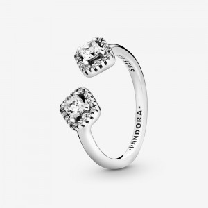 Pandora Square Sparkle Open Ring