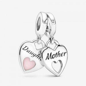 Pandora Double Heart Split Dangle Charm
