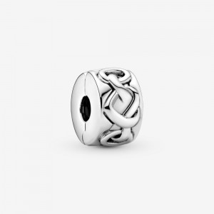 Pandora Knotted Hearts Clip Charm