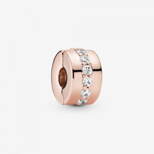 Pandora Sparkling Row Spacer Charm Rose Gold