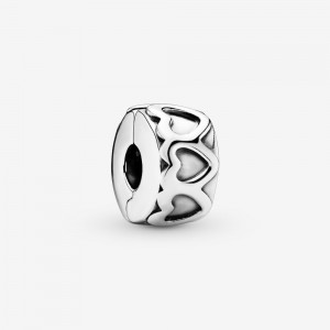 Pandora Band of Hearts Clip Charm Silver
