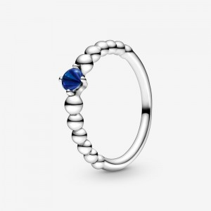 Pandora September Sea Blue Beaded Ring Blue