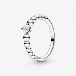Pandora June Misty Rose Beaded Ring Pink