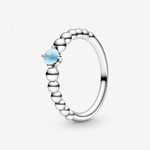 Pandora December Sky Blue Beaded Ring Blue