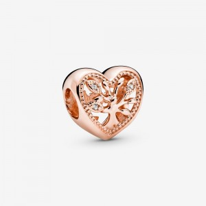 Pandora Openwork Family Tree Heart Charm