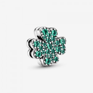 Pandora Pavé Four-Leaf Clover Clip Charm - FINAL SALE
