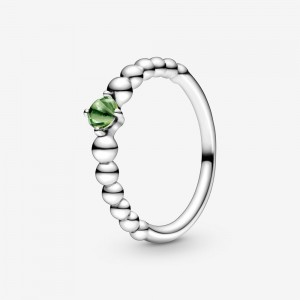 Pandora August Spring Green Beaded Ring Green