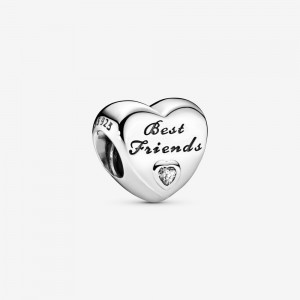 Pandora Polished Best Friends Heart Charm