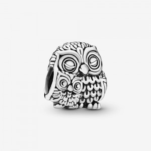 Pandora Mother Owl and Baby Owl Charm