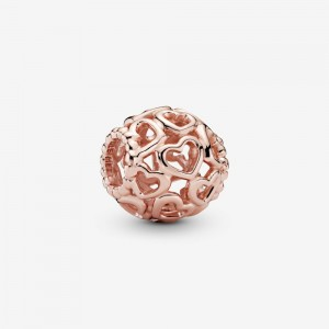 Pandora Hearts All Over Charm Rose Gold
