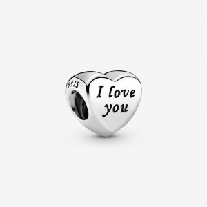 Pandora Polished I Love You Heart Charm