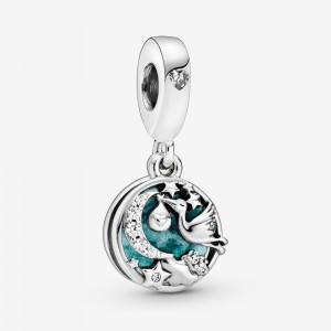 Pandora Stork & Twinkling Stars Dangle Charm