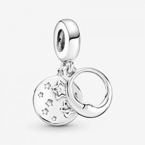 Pandora Sleeping Moon and Stars Dangle Charm
