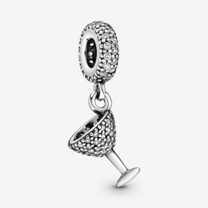 Pandora Pavé Cocktail Glass Dangle Charm
