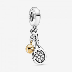 Pandora Tennis Racket & Ball Dangle Charm