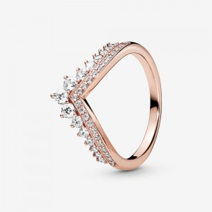 Pandora Princess Wishbone Ring Rose Gold