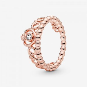 Pandora Princess Tiara Crown Ring Rose Gold