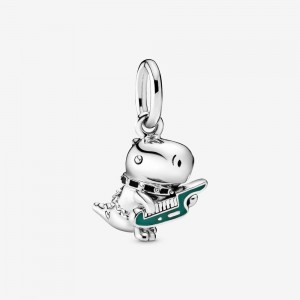Pandora Dino the Dinosaur Punk Band Dangle Charm