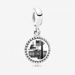 Pandora Washington D.C. Dangle Charm, Black Enamel