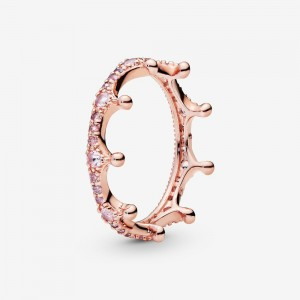 Pandora Pink Sparkling Crown Ring