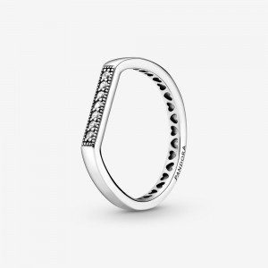 Pandora Sparkling Bar Stacking Ring