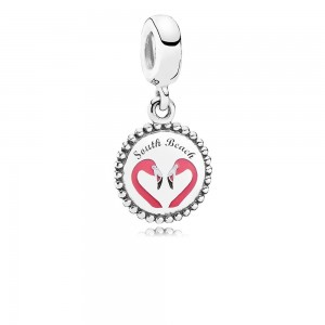 Pandora South Beach Flamingo Dangle Charm, Mixed Enamel