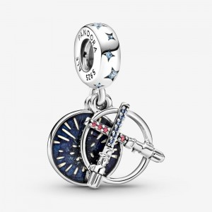 Pandora Star Wars Lightsaber Double Dangle Charm