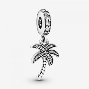 Pandora Sparkling Palm Tree Dangle Charm