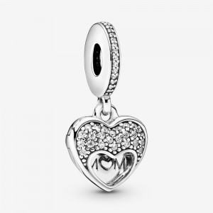Pandora I Love My Mom Heart Dangle Charm