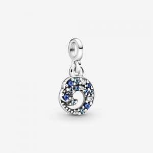 Pandora My Blue Ocean Wave Dangle Charm