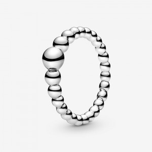 Pandora String of Beads Ring Silver