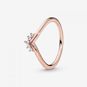 Pandora Tiara Wishbone Ring Rose Gold
