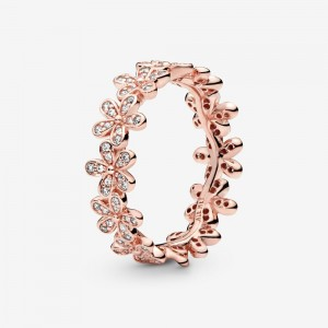 Pandora Daisy Flower Ring Rose Gold