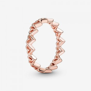 Pandora Freehand Hearts Ring Rose Gold